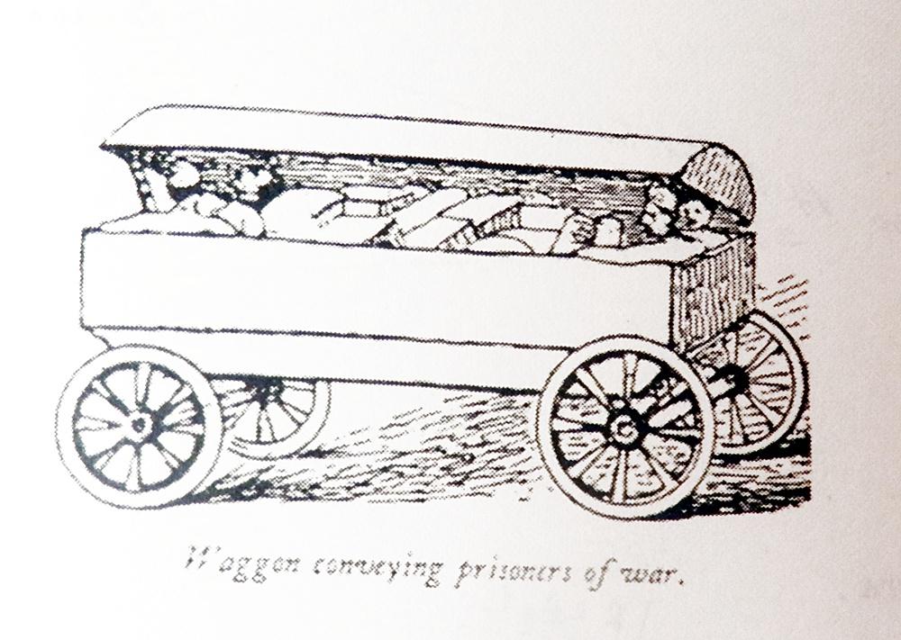 Carromato para llevar a los heridos en el que trasportaron al teniente Bootby desde Talavera a Madrid