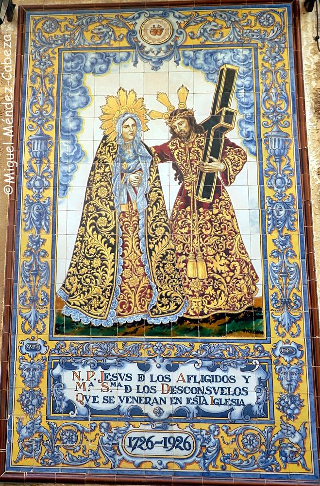 Panel de azulejería de Ruiz de Luna de la iglesia de San Lorenzo Mártir de Cádiz
