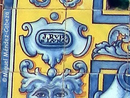 Firma de Ruiz de Luna en el panel de la iglesia de San Lorenzo Mártir de Cádiz
