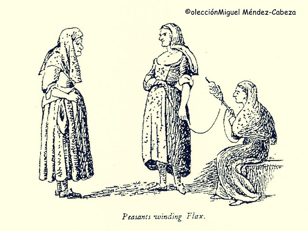 Mujeres talaveranas dibujadas por el teniente Boothby. Eran las sirvientas de la casa que le acogió