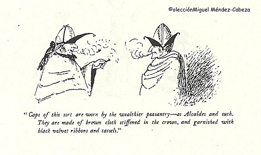 Tipos talaveranos dibujados por el teniente Boothby durante su convalecencia en Talavera