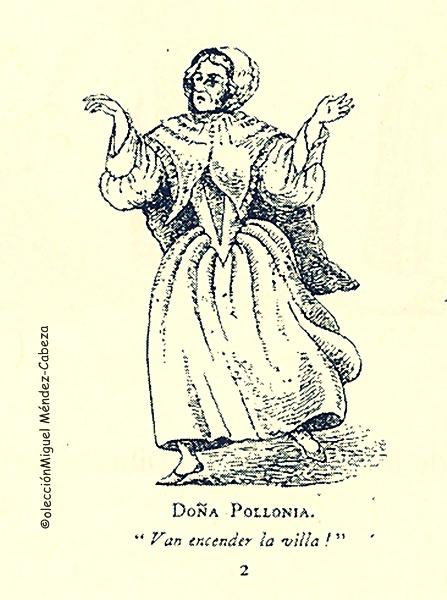 La tía Polonia propablemente Apolonia, la anfitriona del teniente Boothby