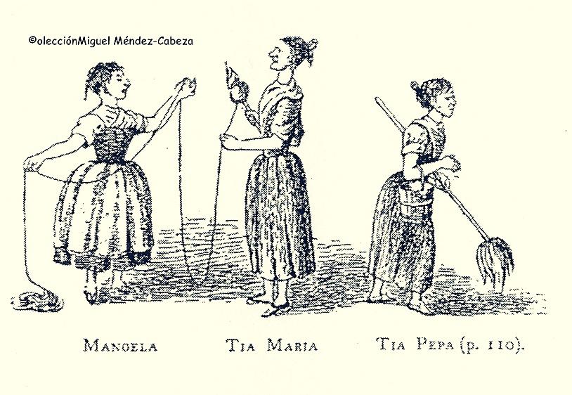 Sirvientas de la casa que acogió al teniente Boothby en Talavera.