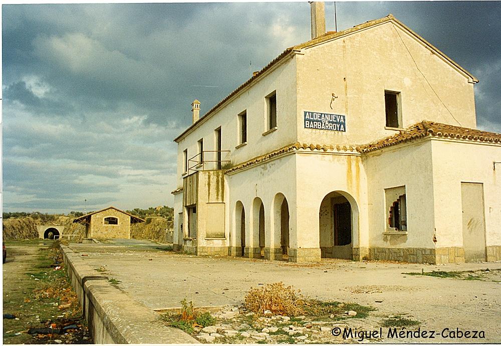 Estación de la Vía del Hambre en Aldeanueva de Barbarroya