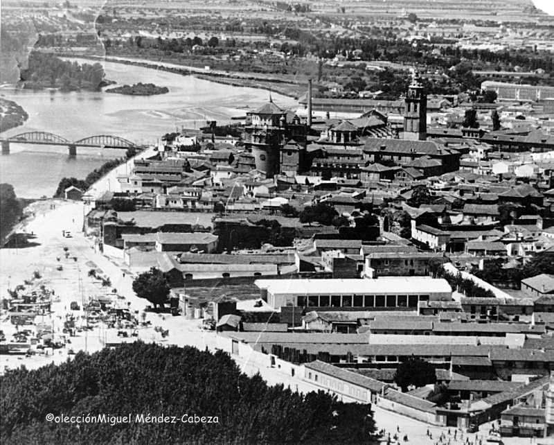 Vista aérea de la zona de Ronda del cañillo en los años 60, justo antes del boom urbanístico