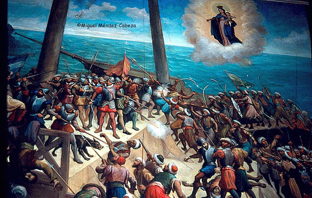 El milagro de la batalla contra el turco porque son devotas las gentes de Mejorada