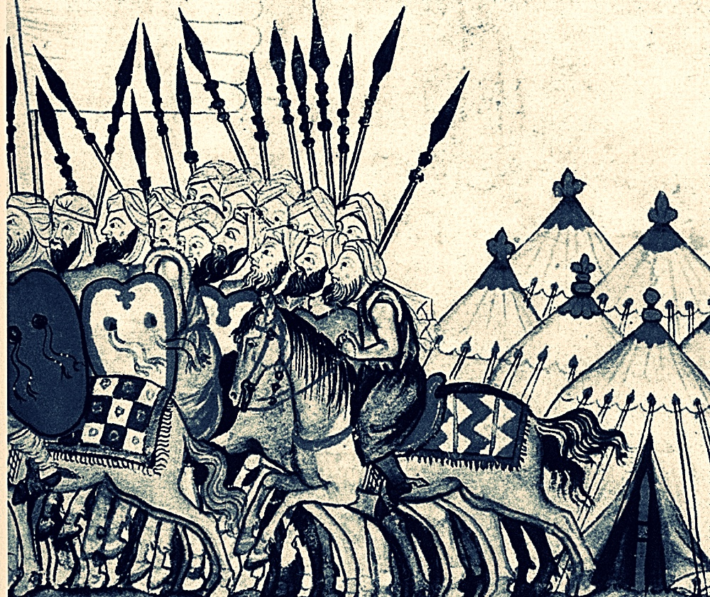 Tropas musulmanas medievales como las que razziaban La Jara