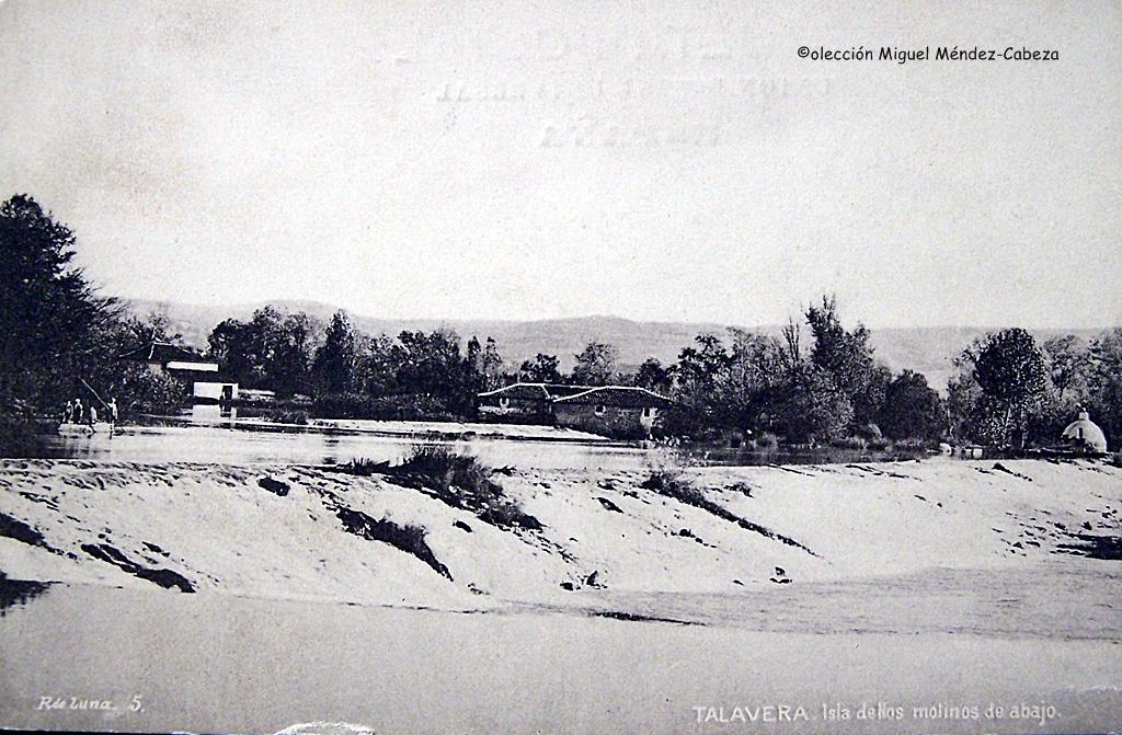 Fotografía de Ruiz de luna de la presa de los molinos de Abajo, que fue rota en un asedio a Talavera para disminuir el nivel del río y poder atacar a la ciudad más fácilmente
