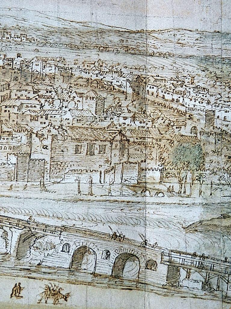 La alcazaba en el dibujo de Van der Wingaerde del siglo XVI