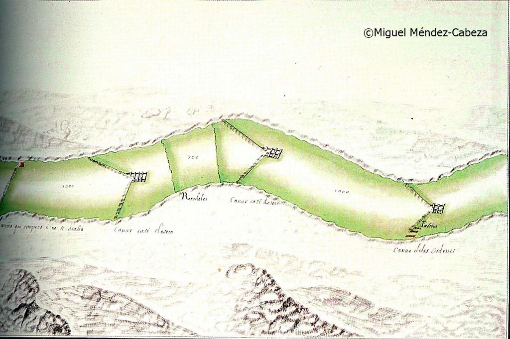 Cañales de pesca representados en un proyecto de navegación del Tajo