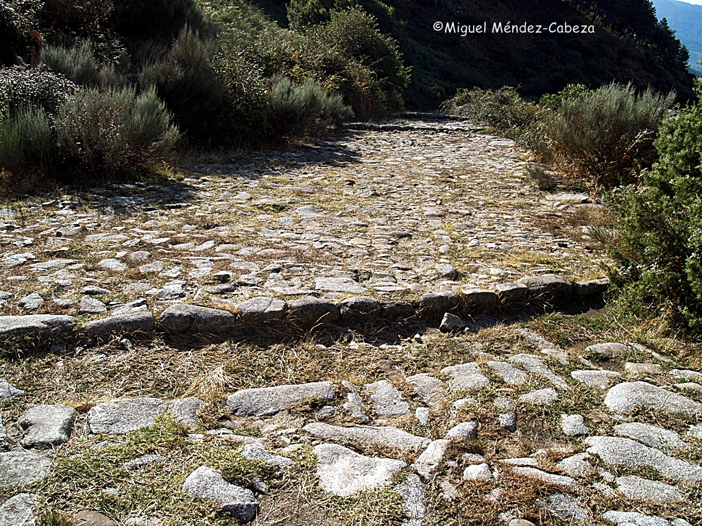 Quites para el agua en la calzada de Puerto del Pico