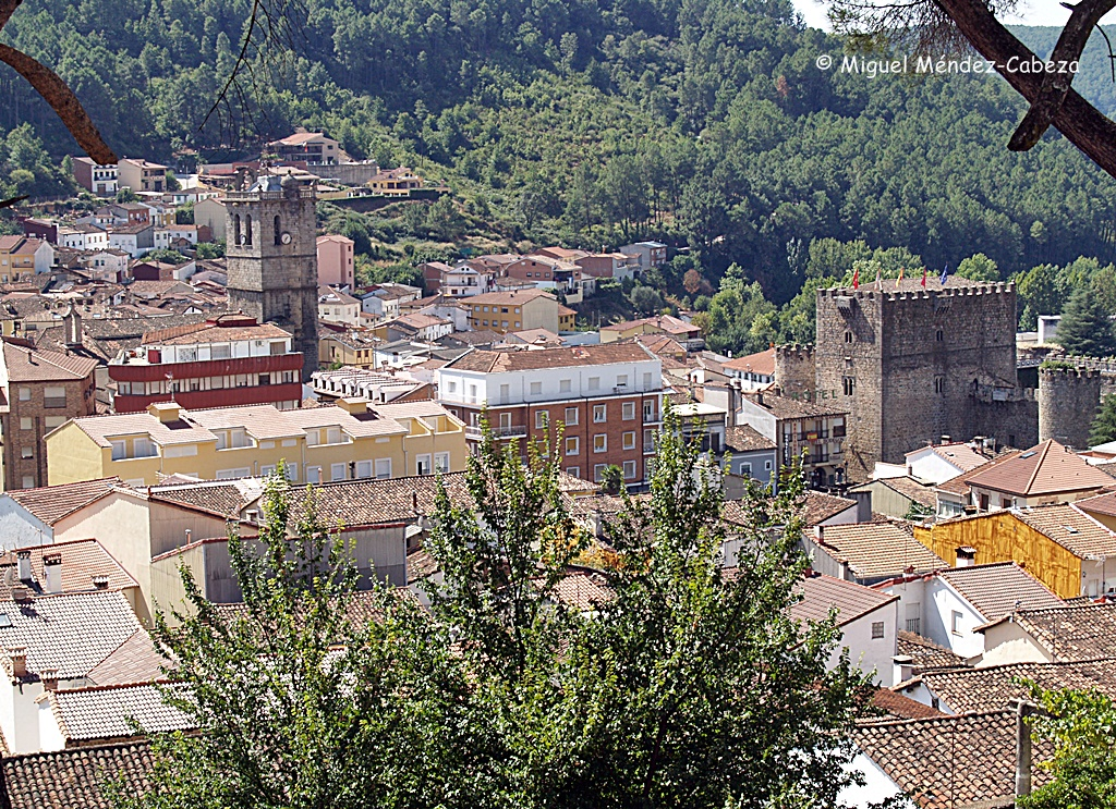 Vista de Arenas de San pedro desde el palacio de Luis de Borbón
