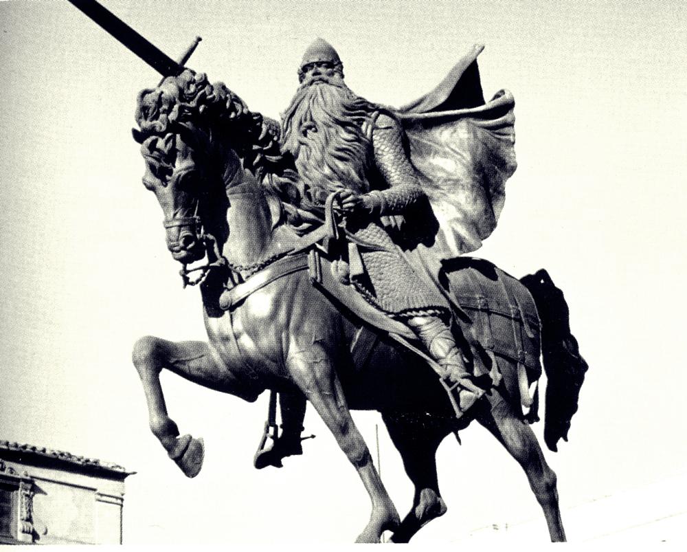 Escultura del Cid en Burgos