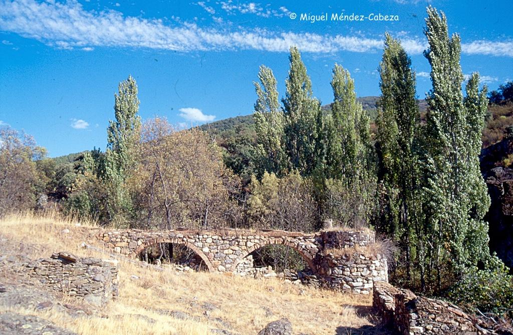 Acueducto y cubo de un molino en Riofrío