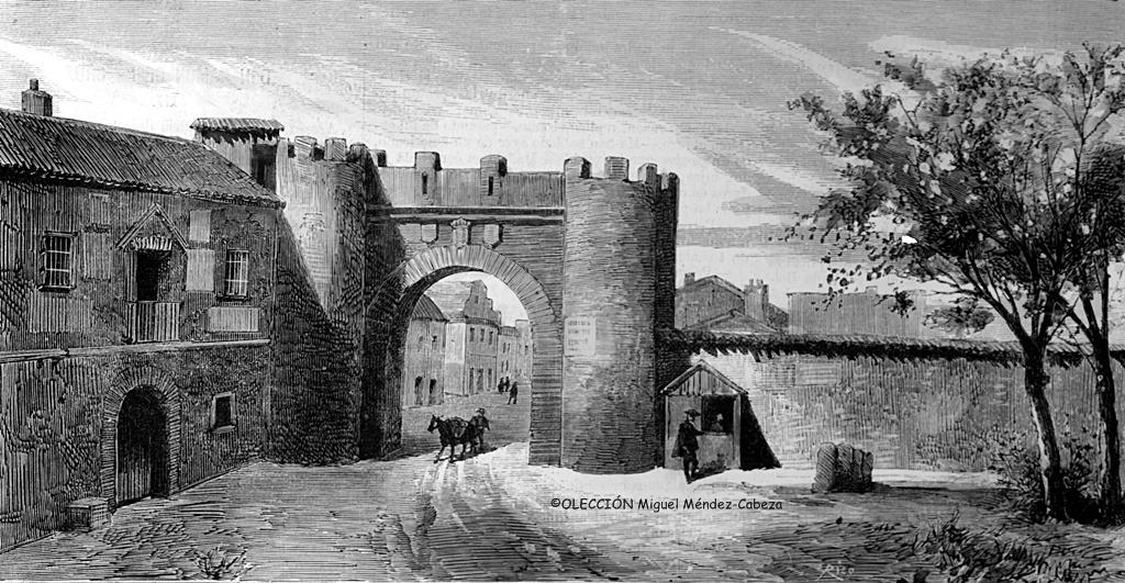 Puerta de Cuartos en un grabado del siglo XIX