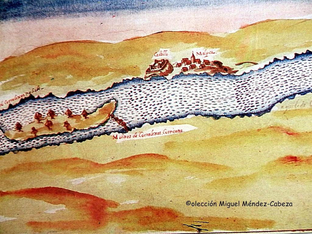 Malpica-con-su-castillo-y-molinos-en-el-plan-de-navegación-de-Carducc