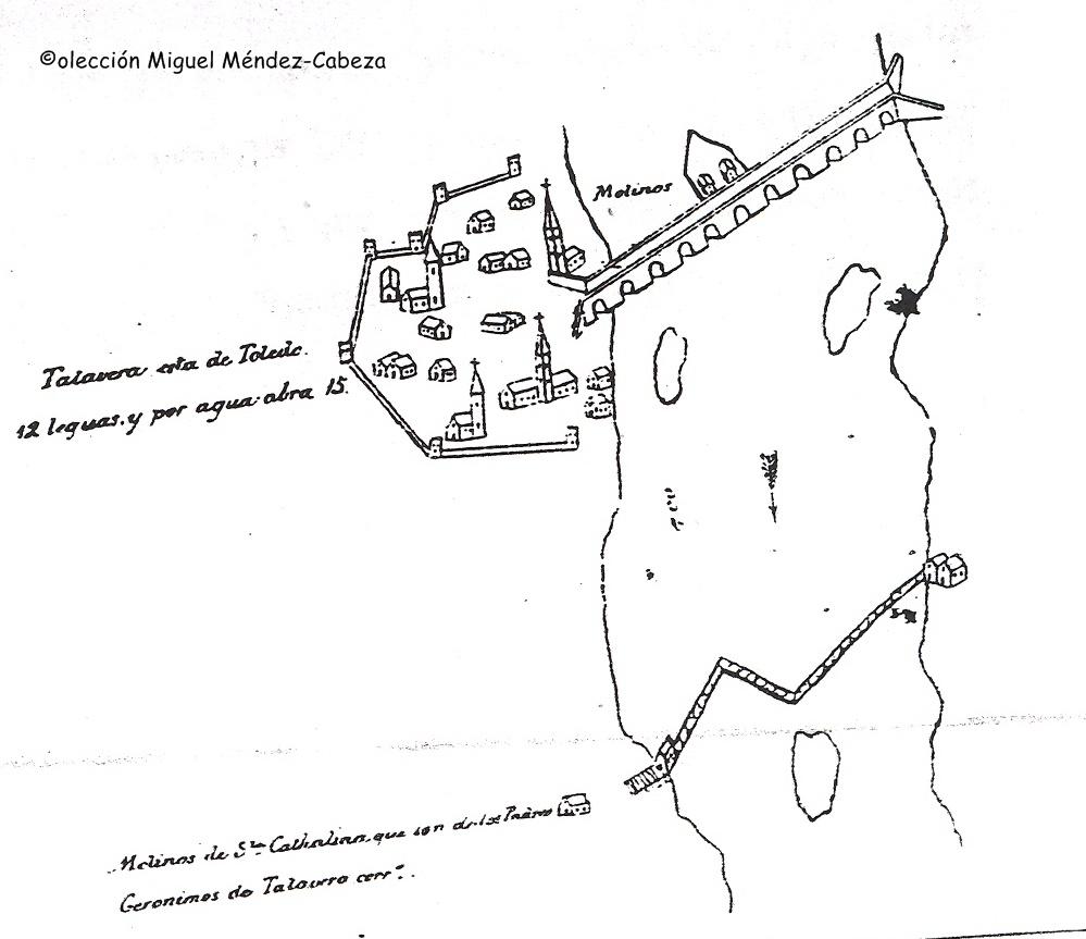 Talavera en un esquema-de un proyecto de navegacion