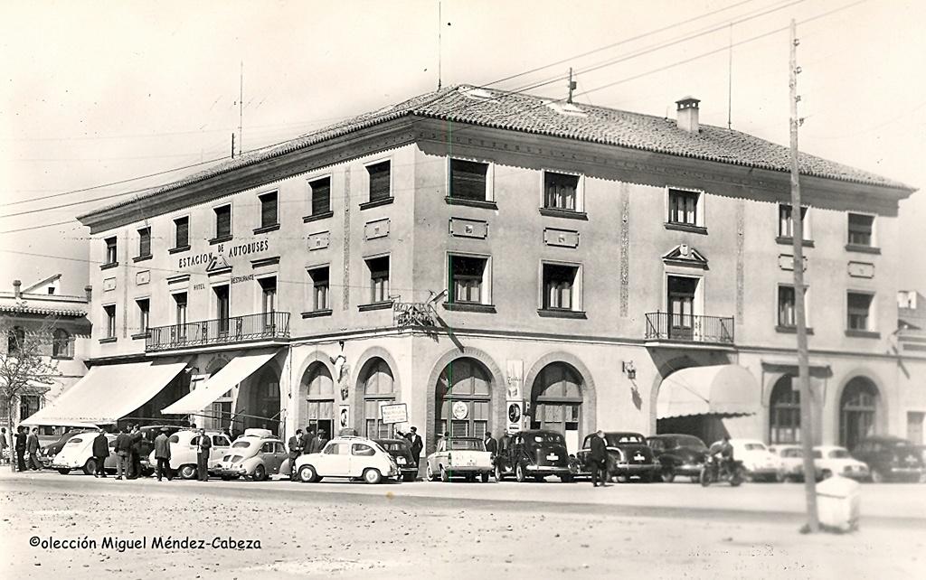 Estación de autobuses a finales de los sesenta