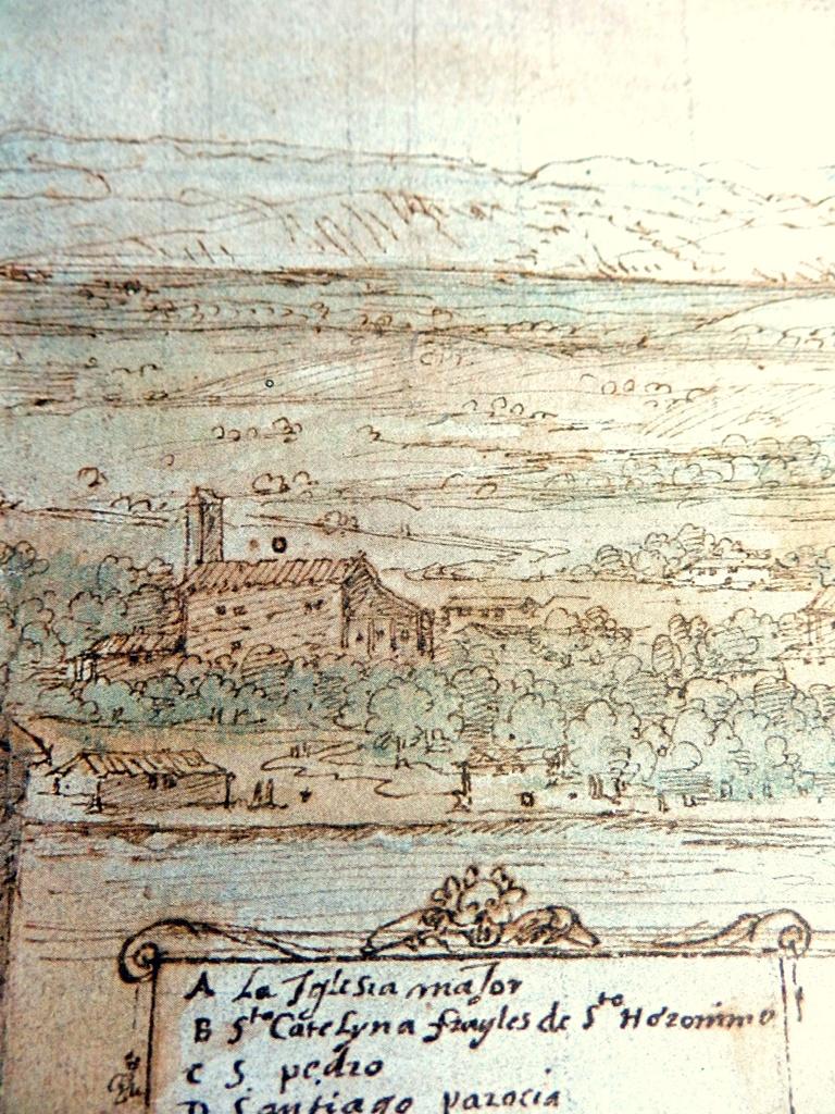 Ermita de la Magdalena en el dibujo de Vander Wingaerde