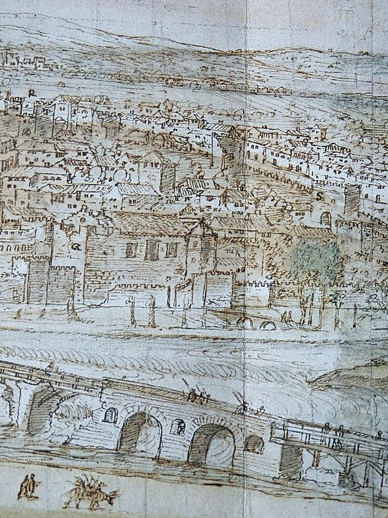 Alcázaba de Talavera en el dibujo de Van der Wingaerde