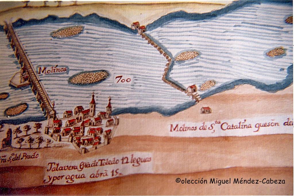 Talavera representada en el plan de navegación del Tajo de Carduchi
