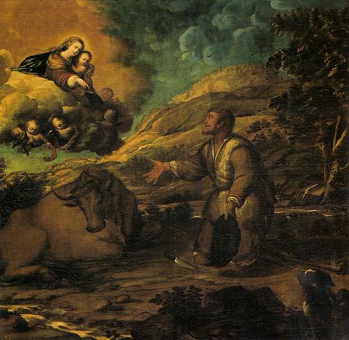 Cuadro que representa la aparición de la Virgen de Guadalupe a Gil Cordero