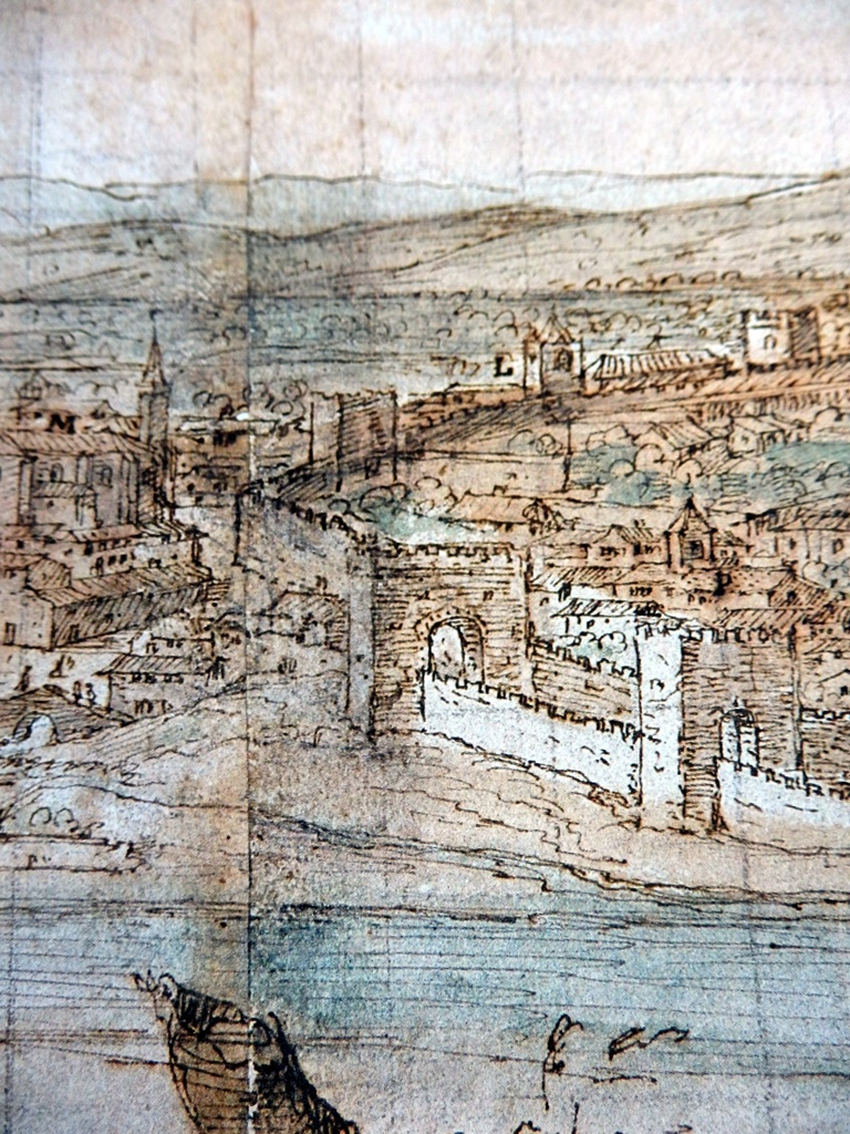 Zona de Entretorres l en el dibujo de Van der Wingaerde