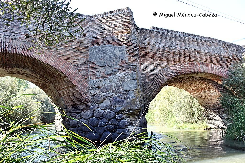 Los dos únicos arcos del Puente del Alberche aún en pie