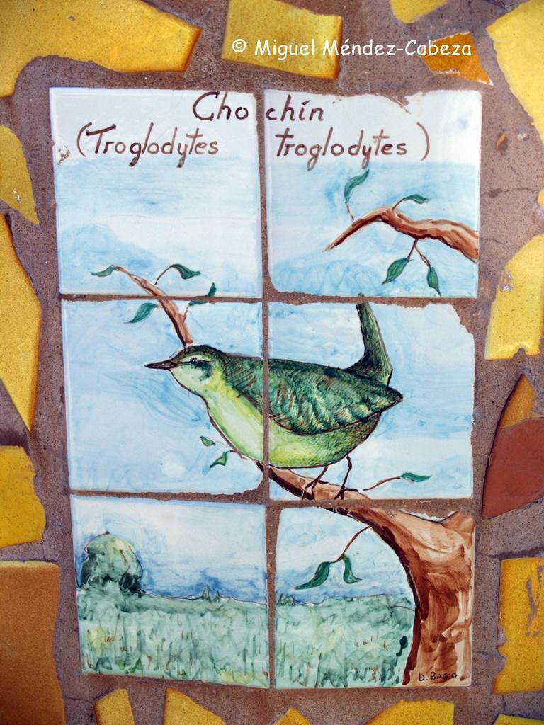 Especies ribereñas en azulejo talaverano
