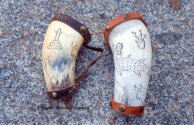 Cuernos de pastor para beber en las fuentes o llevar los ingredientes del gazpacho