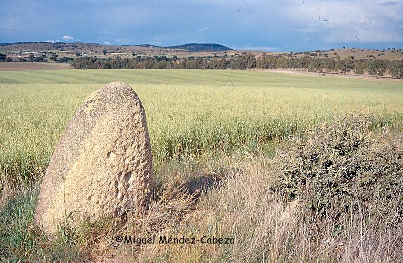 Menhir de la laguna del conejo entre Velada y Gamonal