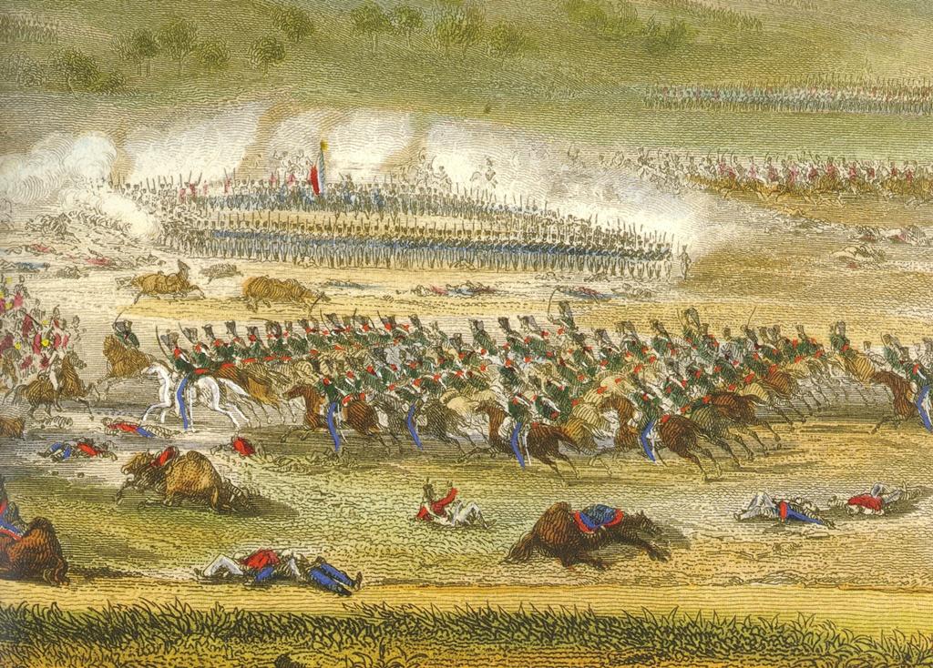 Dibujo que representa la batalla de Talavera