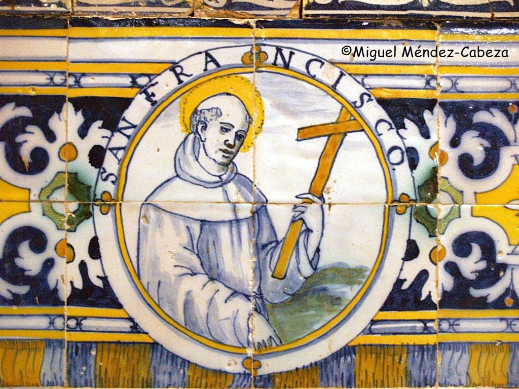 San francisco representado en la azulejería de la iglesia de El Casar de talavera