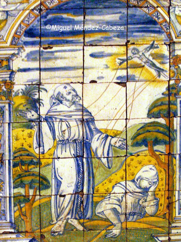Representación de San francisco en la ermita de la Virgen del prado, procedente del hospital de San Antonio Abad