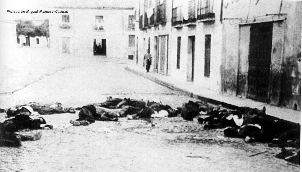 Fusilados republicanos en la calle Carnicerías en septiembre de 1936
