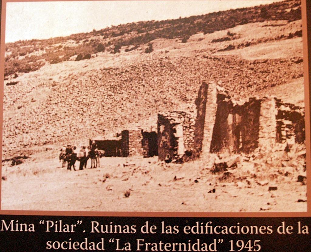Restos de la mina de oro en sierra jaeña en 1945