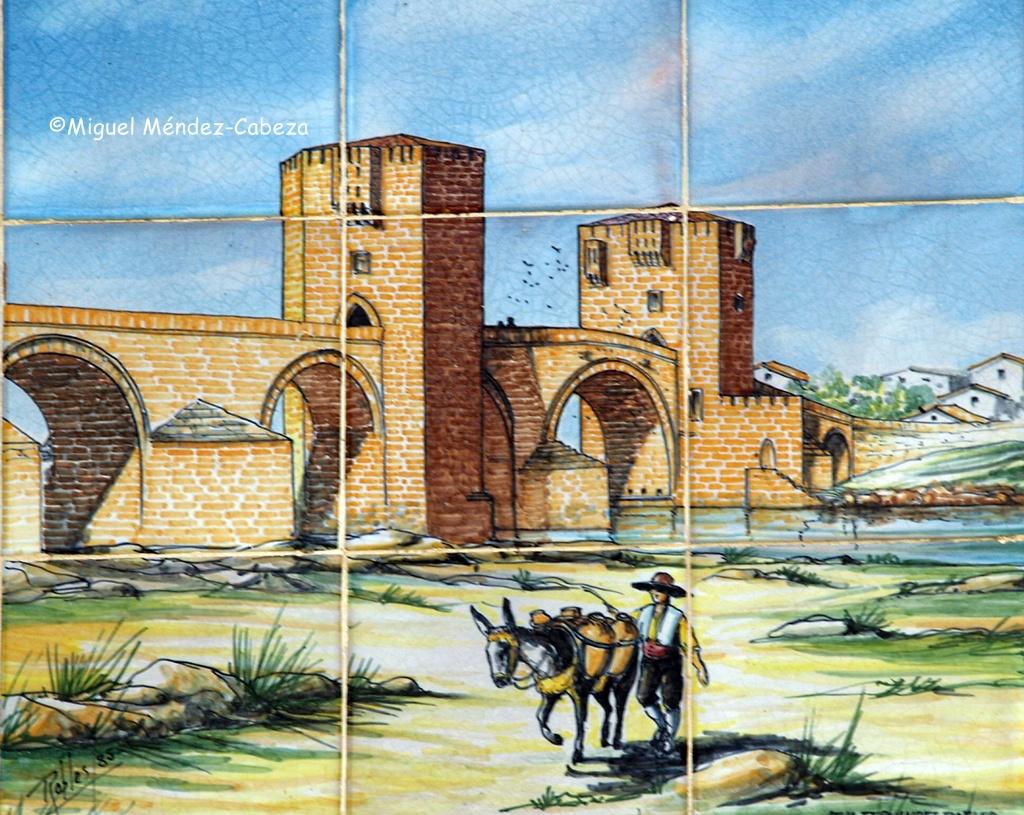 El puente del arzobispo Tenorio en azulejo puenteño