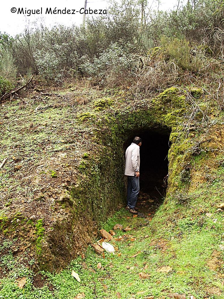 Bocamina de una vieja explotación minera en Anchuras