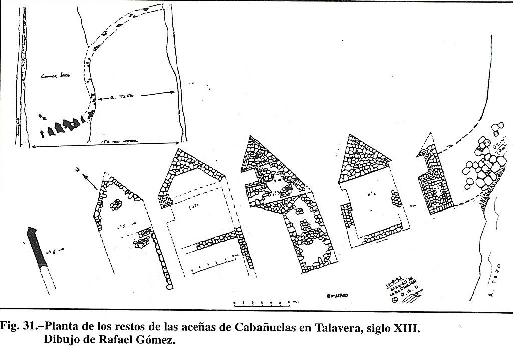Planta de los molinos de cabañuelas. Autor Rafael Gómez