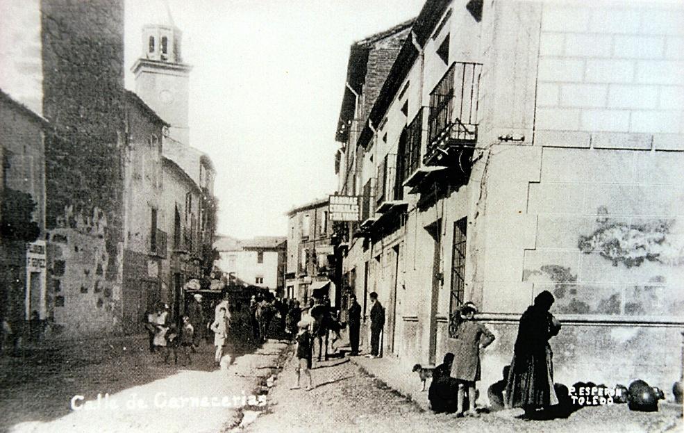 Foto de Esperón de la calle Carnicerías hacia 1930, como vemos todavía era lugar de venta de sandías.