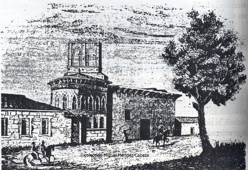 "Iglesia del Hospital de Santiago, ""Santiaguito"" en grabado del siglo XIX"