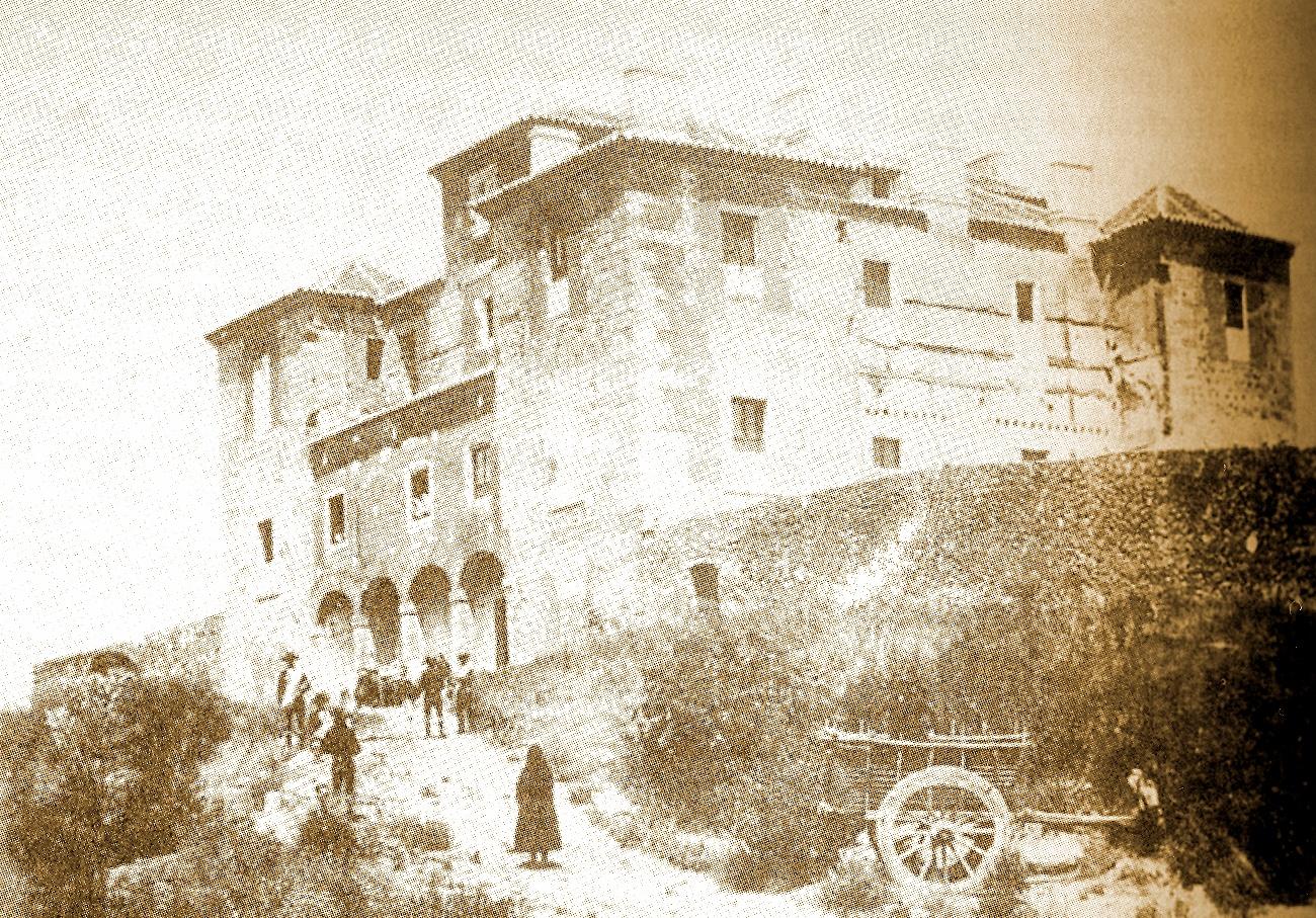 Foto antigua del palacio de Rosarito