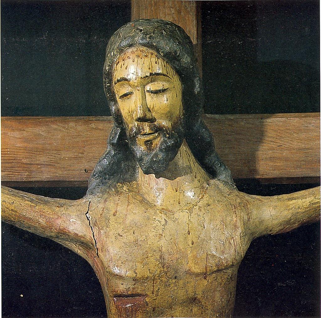 """Cristo """"santiaguito"""" o """"Cristo de Trapo"""", actualmente en el museo de la basílica del Prado"""