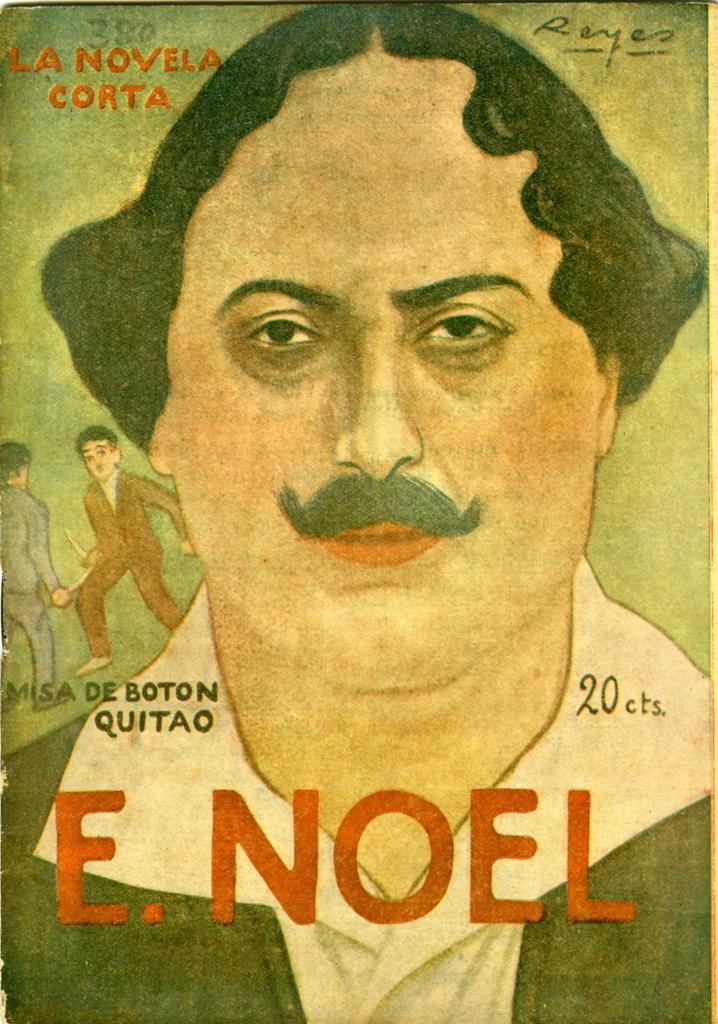 Eugenio Noel en la portada de una de sus novelas