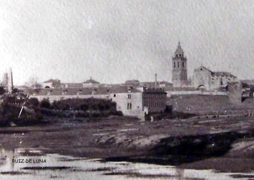 Foto del rio de Ruiz de Luna desde la isla del-paredon con las reales-fabricas al fondo