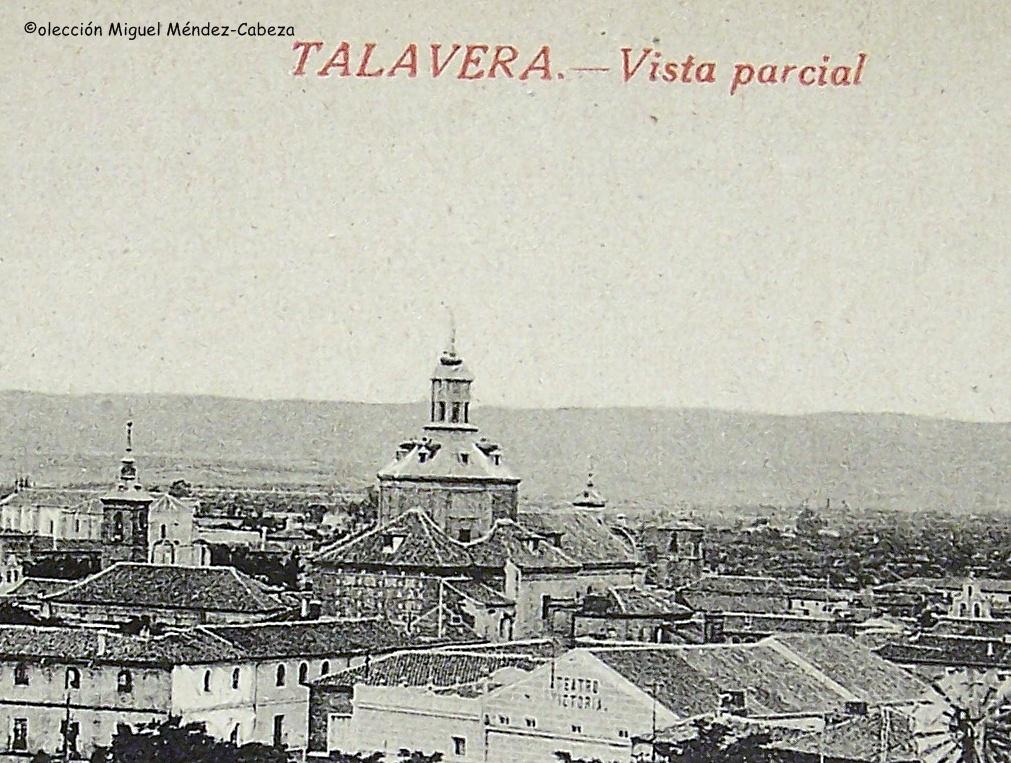 Postal en que se ve el templo de los jesuitas. También se ve a la izquierda la torre del Salvador y a la derecha se vela torre de San Miguel y la espadaña de las agustinas