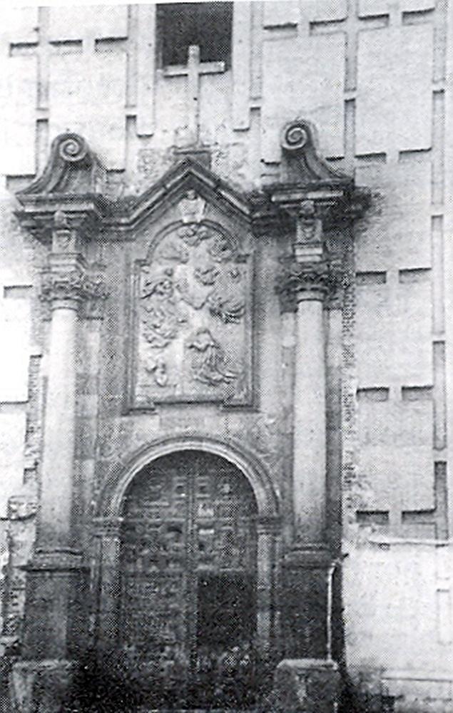 Portada de la iglesia de los jesuitas, que se situaría en el actual mercado de abastos