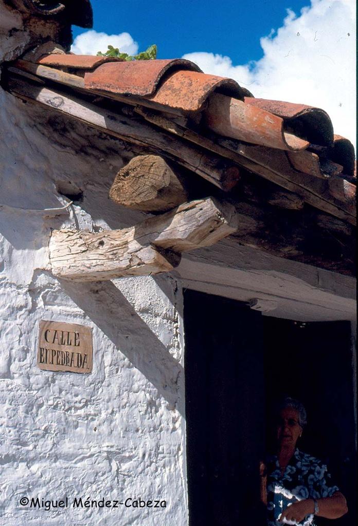 Tejadillo típico en Sevilleja de La Jara